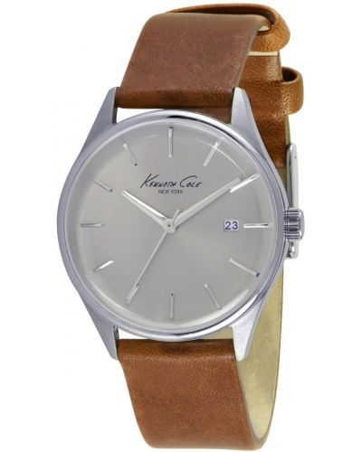 Mens Kenneth Cole Classic Silver Dial on Tan Strap KC10026626 Watch