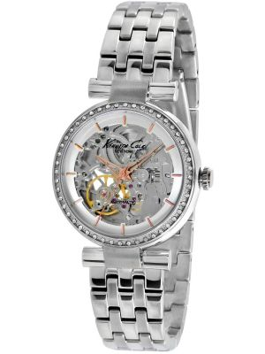 Womens Kenneth Cole Automatic Skeleton Steel Bracelet KC4996 Watch