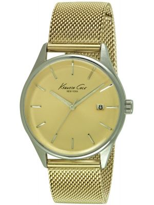 Womens Kenneth Cole Classic Retro Gold Mesh KC10029401 Watch