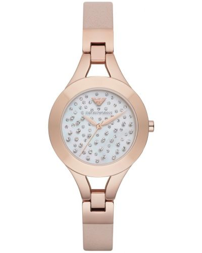 Womens Emporio Armani Dress Rose Crystal Dial AR7437 Watch