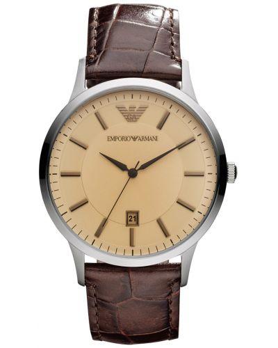 Mens Emporio Armani Classic Brown Strap AR2427 Watch