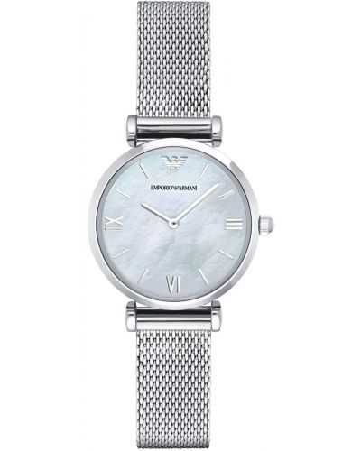 Womens Emporio Armani Retro Steel Mesh Pearl Dial AR1955 Watch
