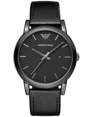 Mens Emporio Armani Classic Black Strap AR1732 Watch