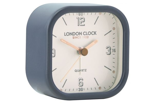 Navy Blue Alarm Clock With Copper Hands 34403 Buy London