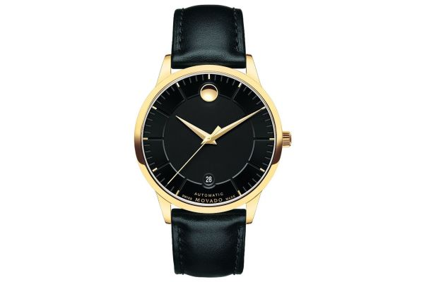 Mens Movado 1881 Automatic Gold Plated Dress 606875 Watch