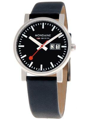 Mens Mondaine Evo Big Date 35mm Black Strap A669.30300.14SBB Watch
