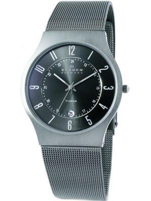Mens Skagen Grenen Grey titanium milanese strap 233XLTTM Watch