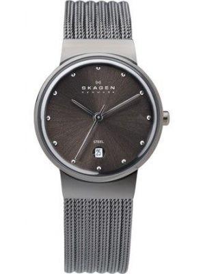 Womens Skagen Ancher grey stainless steel 355SMM1 Watch