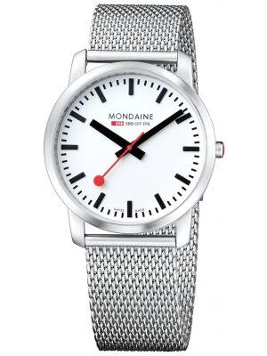 Mens Mondaine Simply Elegant 41mm Mesh Bracelet A638.30350.16SBM Watch