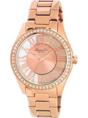 Womens Kenneth Cole Transparent Crystal set rose gold KC4852 Watch