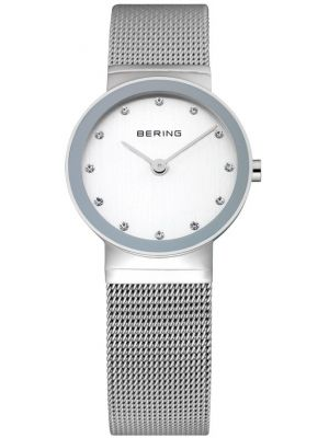 Womens Bering Classic crystal set stainless steel 10126-000 Watch