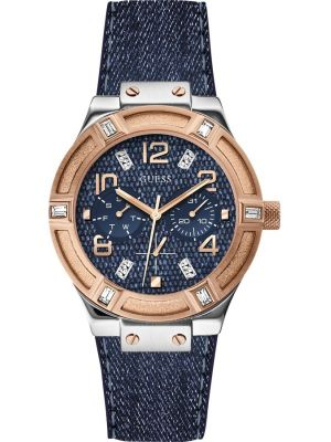 Womens Guess Jet Setter Denim and Rose W0289L1 Watch