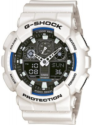 Mens Casio G Shock White and black GA-100B-7AER Watch