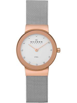 Womens Skagen Freja crystal set stainless steel 358SRSC Watch