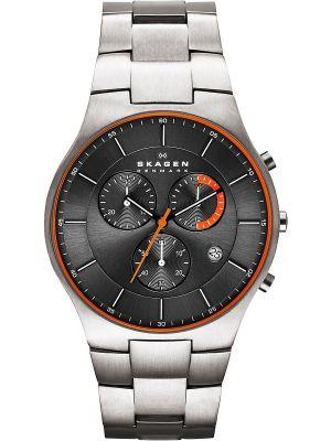 Mens Skagen Brushed Titanium chronograph SKW6076 Watch
