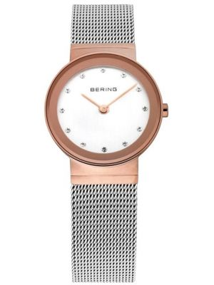 Womens Bering stainless steel rose gold 10126-066 Watch