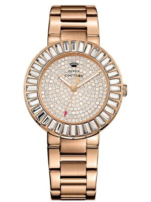 Womens Juicy Couture Grove Rose gold crystal set 1901183 Watch