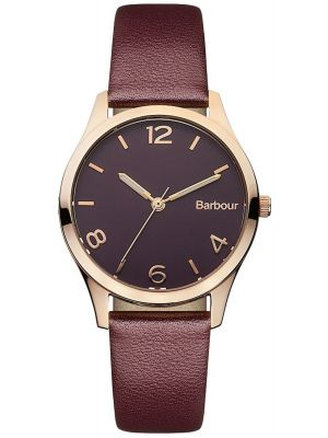Womens Barbour Afton rose gold leather strap bb002byby Watch
