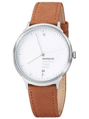 Mens Mondaine Helvetica No.1 Light 38 MH1.L2210.LG Watch