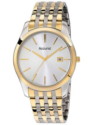 Mens Accurist stainless steel gold highlighted MB972S.01 Watch