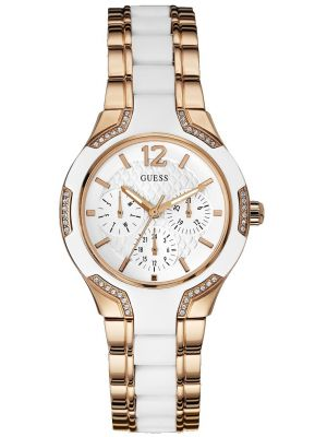Womens Guess Center Stage Rose Gold W0556L3 Watch