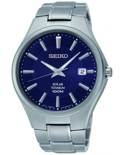 Mens Seiko Solar Navy blue titanium SNE381P9 Watch