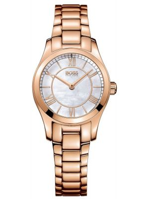 Womens Hugo Boss Ambassador mother of pearl rose gold plated 1502378 Watch