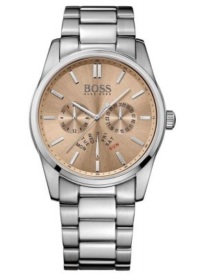 Mens Hugo Boss Heritage Stainless steel champagne 1513128 Watch