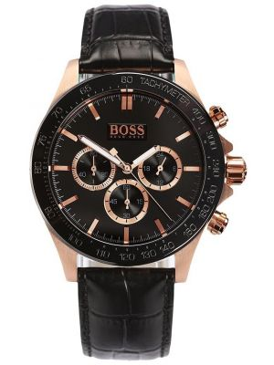Mens Hugo Boss HB3060 Rose gold plated leather chronograph 1513218 Watch