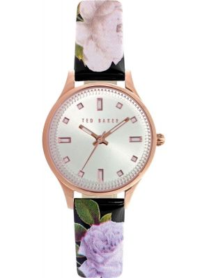 Womens Ted Baker rose gold floral strap TE10025270 Watch