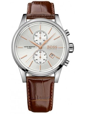 Mens Hugo Boss Jet classic brown leather chrono 1513280 Watch