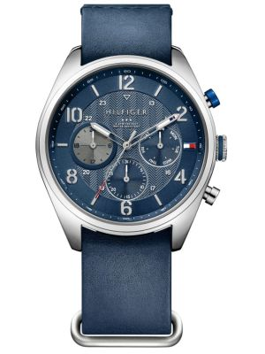 Mens Tommy Hilfiger Corbin blue leather strap 1791187 Watch