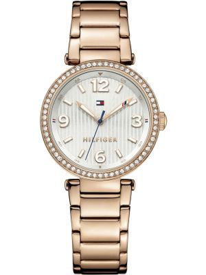 Womens Tommy Hilfiger Lynn crystal set rose gold dress 1781590 Watch