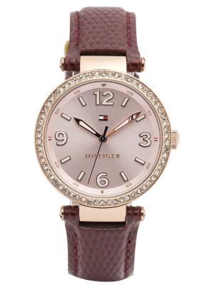 Womens Tommy Hilfiger Lynn rose gold crystal set dress 1781588 Watch