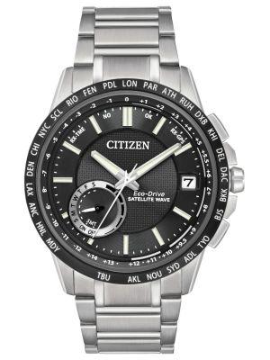 Mens Citizen Satellite Wave World Time GPS CC3005-85E Watch