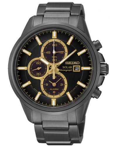 Mens Seiko Solar black ion chrono SSC269P9 Watch