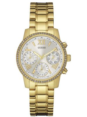 Womens Guess Sunrise gold plated bracelet W0623L3 Watch