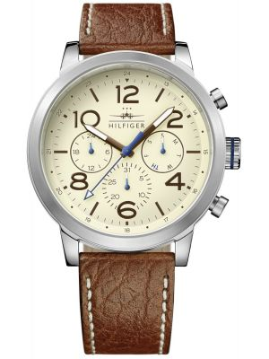 Mens Tommy Hilfiger Jake crocodile leather strap 1791230 Watch