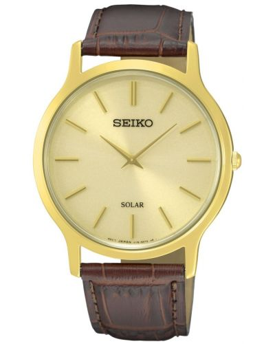Mens Seiko Solar crocodile patterned SUP870P1 Watch