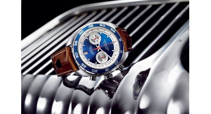 Hamilton Pan-Europ retro timepiece.