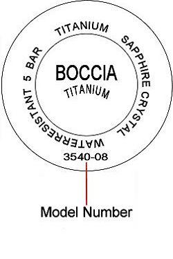 Boccia watch case back - repairs servicing