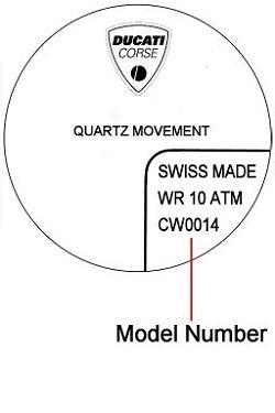 Ducati watch case back - repairs servicing