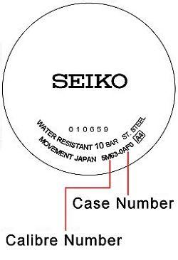 Seiko watch case back - repairs servicing