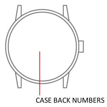 - Standard form -  watch case back - repairs servicing