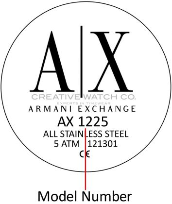 Armani Exchange watch case back - repairs servicing