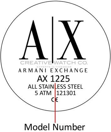 Armani Exchange watch case back - repairs servicing