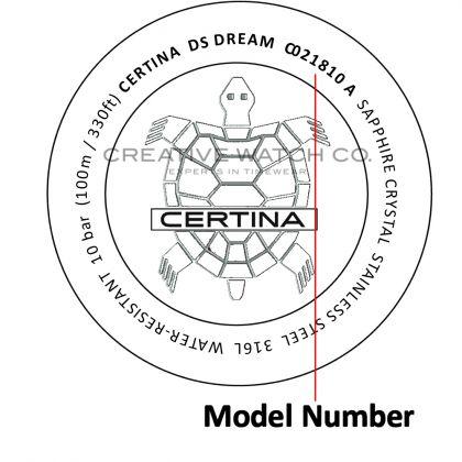 Certina watch case back - repairs servicing