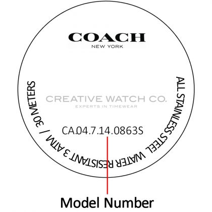 Coach watch case back - repairs servicing