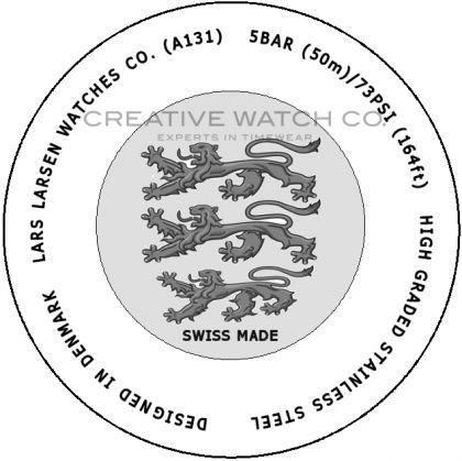 Lars Larsen watch case back - repairs servicing
