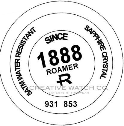 Roamer watch case back - repairs servicing